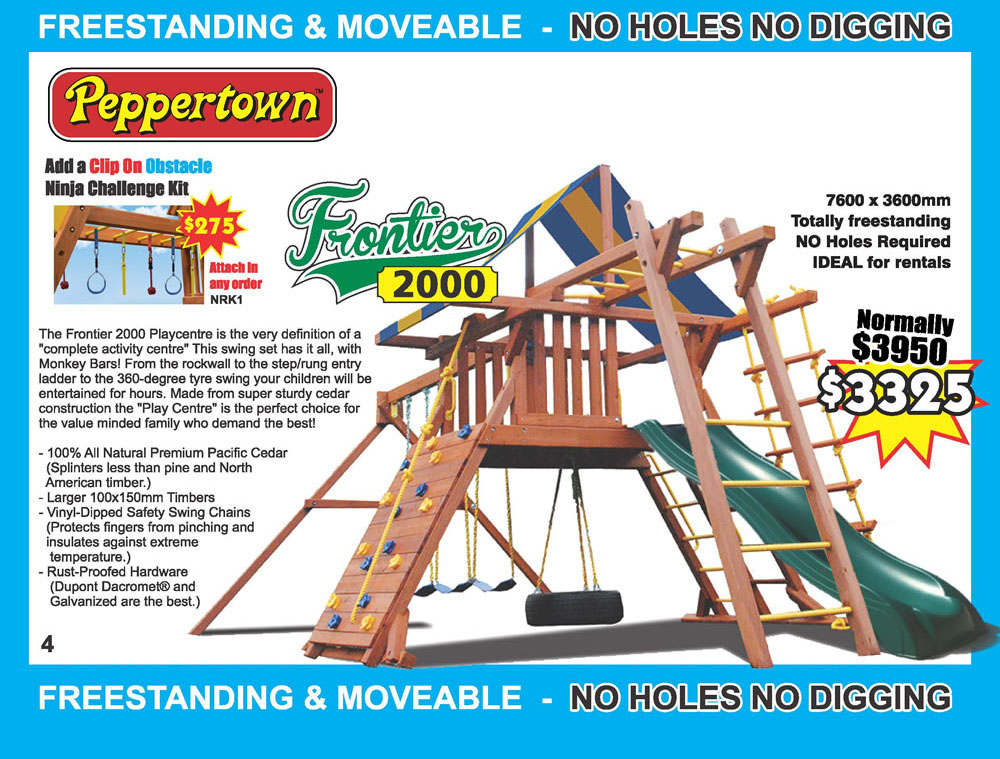 Frontier Playcentres USA Designed Play Forts from Peppertown