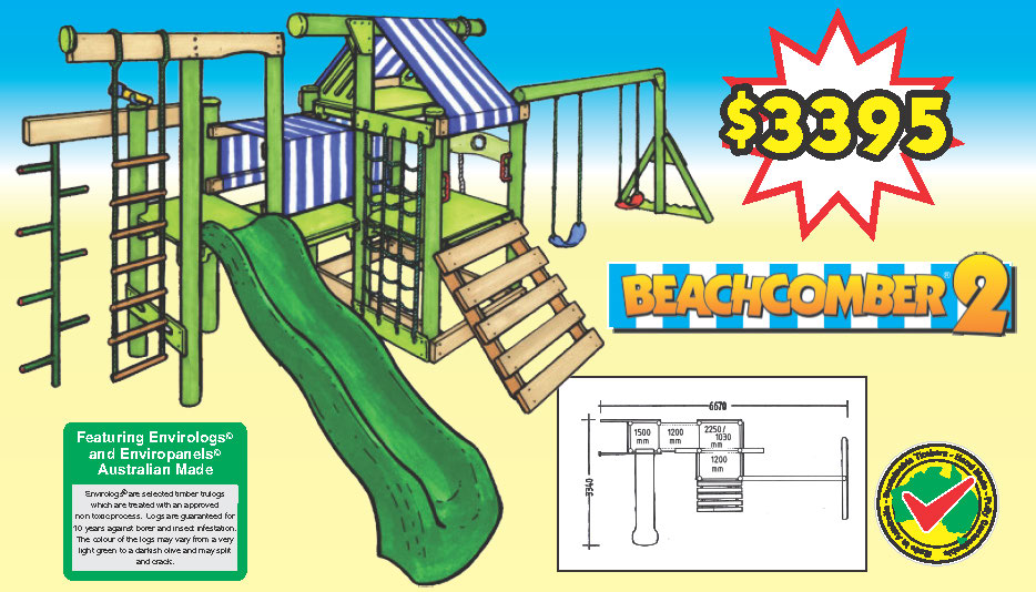 THE BEACHCOMBER 2 is designed for younger kids, it's easy access and very safe.