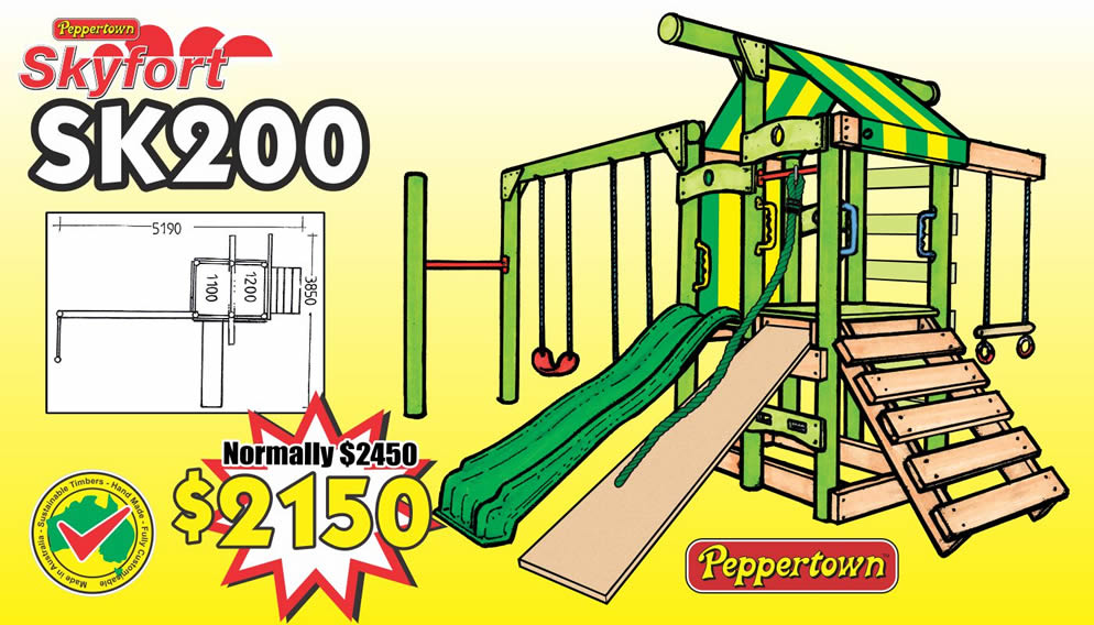 The SKYFORT SK200, a comprensive play gym for small kids and special needs children.