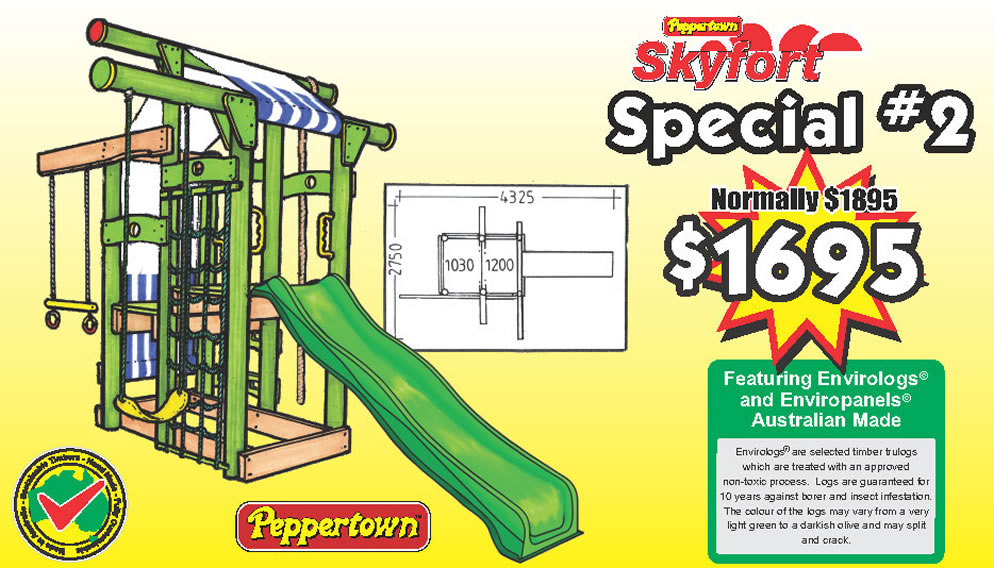 Skyfort special #2 The compact playfort, perfect for the small spaces and active kids.